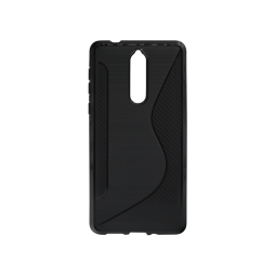 Nokia 8 - Gumiran ovitek (TPU) - črn CS-Type