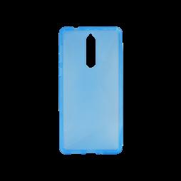 Nokia 8 - Gumiran ovitek (TPU) - modro-prosojen CS-Type