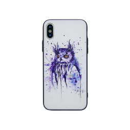 Apple iPhone X - Gumiran ovitek (TPUP) - Owl