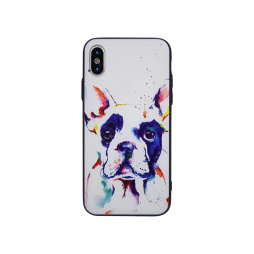 Apple iPhone X / XS - Gumiran ovitek (TPUP) - Dog