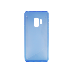 Samsung Galaxy S9 - Gumiran ovitek (TPU) - modro-prosojen CS-Type