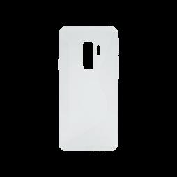 Samsung Galaxy S9+ - Gumiran ovitek (TPU) - belo-prosojen CS-Type