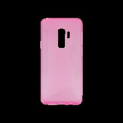 Samsung Galaxy S9+ - Gumiran ovitek (TPU) - roza-prosojen CS-Type