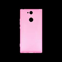 Sony Xperia XA2 - Gumiran ovitek (TPU) - roza-prosojen CS-Type