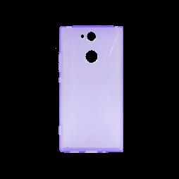 Sony Xperia XA2 - Gumiran ovitek (TPU) - vijolično-prosojen CS-Type