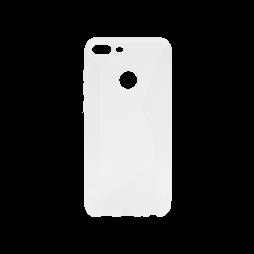 Huawei Honor 9 Lite - Gumiran ovitek (TPU) - belo-prosojen CS-Type