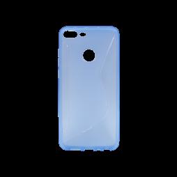 Huawei Honor 9 Lite - Gumiran ovitek (TPU) - modro-prosojen CS-Type