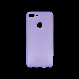 Huawei Honor 9 Lite - Gumiran ovitek (TPU) - vijolično-prosojen CS-Type