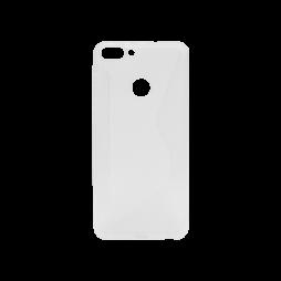 Huawei P Smart - Gumiran ovitek (TPU) - belo-prosojen CS-Type