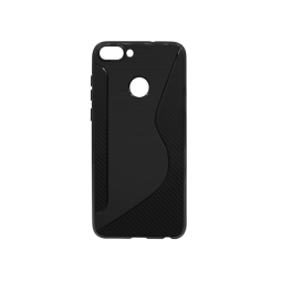 Huawei P Smart - Gumiran ovitek (TPU) - črn CS-Type