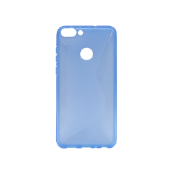Huawei P Smart - Gumiran ovitek (TPU) - modro-prosojen CS-Type