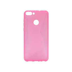 Huawei P Smart - Gumiran ovitek (TPU) - roza-prosojen CS-Type