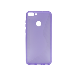 Huawei P Smart - Gumiran ovitek (TPU) - vijolično-prosojen CS-Type