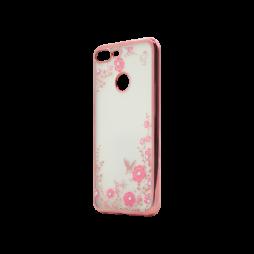 Huawei Honor 9 Lite - Gumiran ovitek (TPUE) - roza rob - roza rožice