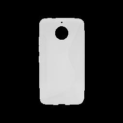Motorola Moto G5s Plus - Gumiran ovitek (TPU) - belo-prosojen CS-Type