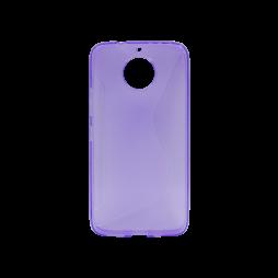 Motorola Moto G5s Plus - Gumiran ovitek (TPU) - vijolično-prosojen CS-Type