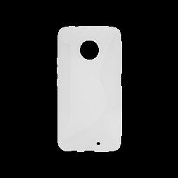 Motorola Moto X4 - Gumiran ovitek (TPU) - belo-prosojen CS-Type