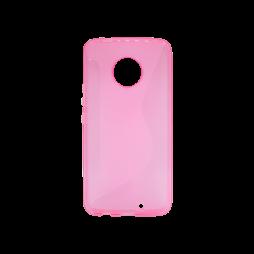 Motorola Moto X4 - Gumiran ovitek (TPU) - roza-prosojen CS-Type