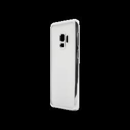 Samsung Galaxy S9 - Gumiran ovitek (TPUE) - rob srebrn