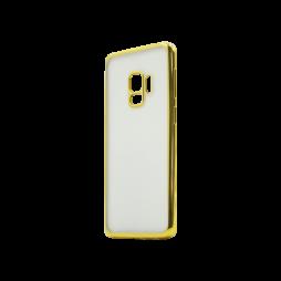 Samsung Galaxy S9 - Gumiran ovitek (TPUE) - rob zlat