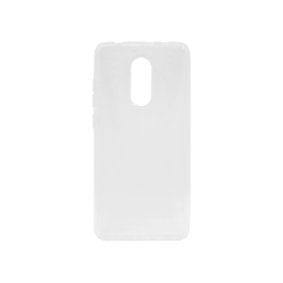 Xiaomi Redmi 5 - Gumiran ovitek (TPU) - belo-prosojen svetleč