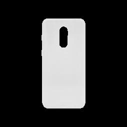 Xiaomi Redmi 5 Plus / Note 5 - Gumiran ovitek (TPU) - belo-prosojen svetleč