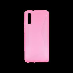 Huawei P20 - Gumiran ovitek (TPU) - roza-prosojen CS-Type