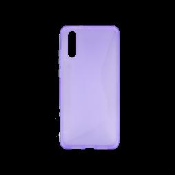 Huawei P20 - Gumiran ovitek (TPU) - vijolično-prosojen CS-Type