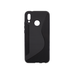 Huawei P20 Lite - Gumiran ovitek (TPU) - črn CS-Type