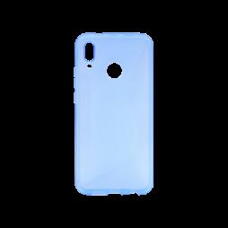 Huawei P20 Lite - Gumiran ovitek (TPU) - modro-prosojen CS-Type