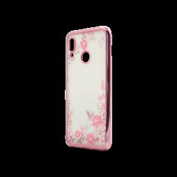 Huawei P20 Lite - Gumiran ovitek (TPUE) - roza rob - roza rožice