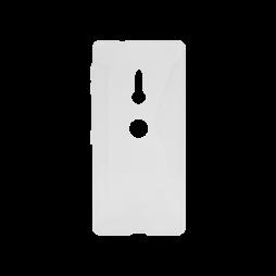 Sony Xperia XZ2 - Gumiran ovitek (TPU) - belo-prosojen CS-Type