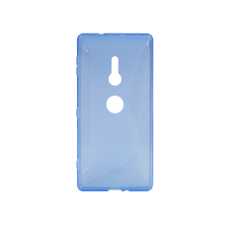 Sony Xperia XZ2 - Gumiran ovitek (TPU) - modro-prosojen CS-Type