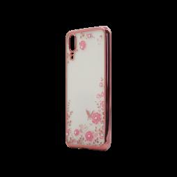 Huawei P20 - Gumiran ovitek (TPUE) - roza rob - roza rožice