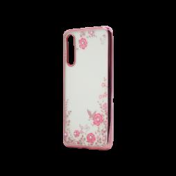 Huawei P20 Pro - Gumiran ovitek (TPUE) - roza rob - roza rožice