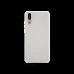 Huawei P20 - Gumiran ovitek (TPU) - belo-prosojen MATT