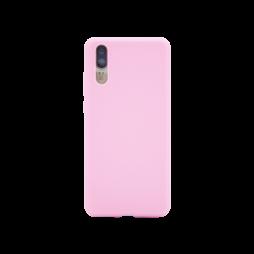 Huawei P20 - Gumiran ovitek (TPU) - svetlo roza MATT