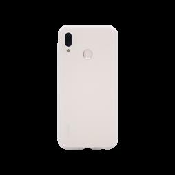 Huawei P20 Lite - Gumiran ovitek (TPU) - belo-prosojen MATT