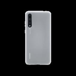 Huawei P20 Pro - Gumiran ovitek (TPU) - belo-prosojen MATT