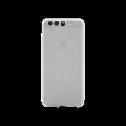 Huawei P10 - Gumiran ovitek (TPU) - belo-prosojen MATT