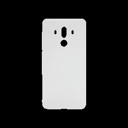 Huawei Mate10 Pro - Gumiran ovitek (TPU) - belo-prosojen MATT