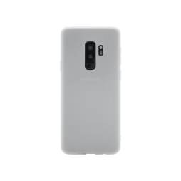 Samsung Galaxy S9+ - Gumiran ovitek (TPU) - belo-prosojen MATT