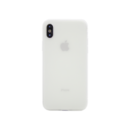 Apple iPhone X / XS - Gumiran ovitek (TPU) - belo-prosojen MATT