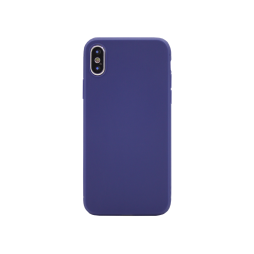 Apple iPhone X / XS - Gumiran ovitek (TPU) - moder MATT