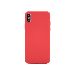 Apple iPhone X / XS - Gumiran ovitek (TPU) - rdeč MATT