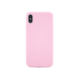 Apple iPhone X / XS - Gumiran ovitek (TPU) - svetlo roza MATT