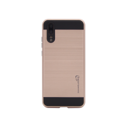 Huawei P20 - Gumiran ovitek (ARM-01) - roza-zlat