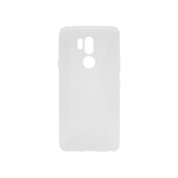 LG G7 ThinQ - Gumiran ovitek (TPU) - belo-prosojen CS-Type