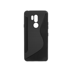 LG G7 ThinQ - Gumiran ovitek (TPU) - črn CS-Type