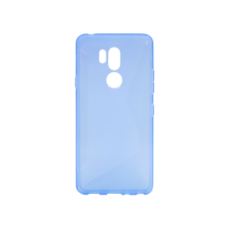 LG G7 ThinQ - Gumiran ovitek (TPU) - modro-prosojen CS-Type